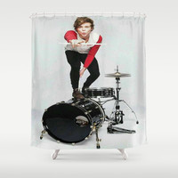 Ashton on teen now Shower Curtain by kikabarros