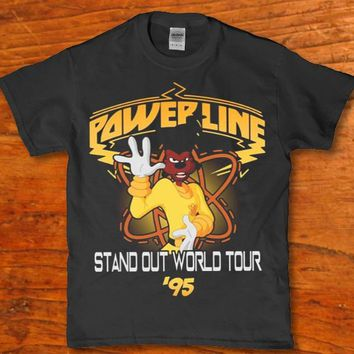 Powerline Stand out world tour '95 adult unisex t-shirt