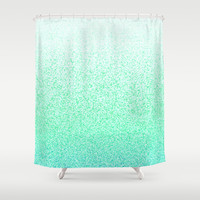 I Dream in Mint Shower Curtain by M Studio