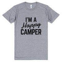 I'M A HAPPY CAMPER T-SHIRT Athletic Grey IDE02090335-T-Shirt