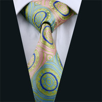 Mens Silk Tie Multi-Color Novelty Neck Tie 100% Silk Jacquard Ties For Men Business Wedding Party