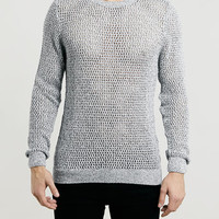 LIGHT GREY TWIST MESH SWEATER - New This Week - New In