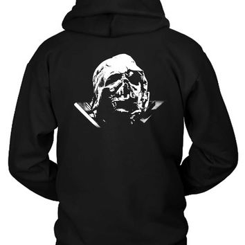 Star Wars The Force Awakens Darth Vader Broken Helmet Hoodie Two Sided