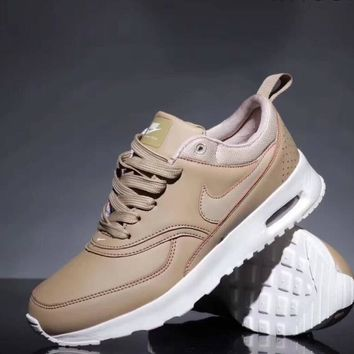 Nike Air Max 90 Fashion Unisex Personality All Leather Small Ar Cushion Sport Running Shoe Sneakers Khaki I-CQ-YDX