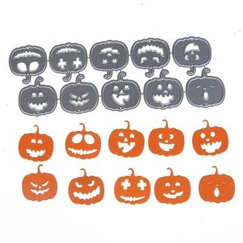 Halloween Theme Small Pumpkin Metal Cutting Dies Stencils for DIY Scrapbooking/photo Album Decorative Embossing DIY Paper Cards