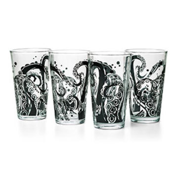 Tentacle Pint Glass 4-Pack Set