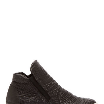 Ca By Cinzia Araia Black Leather Tribal Platform Sneakers