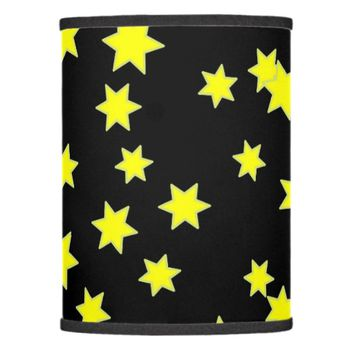 Yellow Stars Lamp Shade