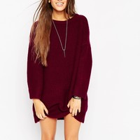ASOS Oversized Jumper Dress In Chunky Knit