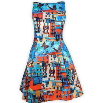 Alice + Olivia Paradise Butterfly Print Dress
