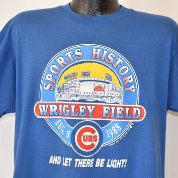 80s Chicago Cubs Wrigley Field Night Game t-shirt Large