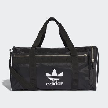 AUGUAU  ADIDAS ORIGINALS DUFFLE BAG LARGE TREFOIL BLACK CW0618