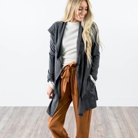 Mia Cardigan in Charcoal