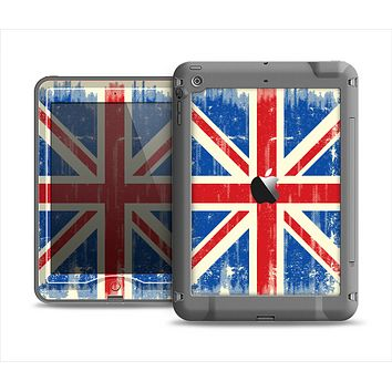 The Grunge Vintage Textured London England Flag Apple iPad Mini LifeProof Nuud Case Skin Set