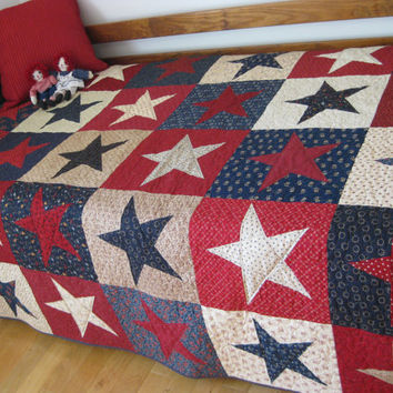 Patriotic Quilt   Red, White and Blue   Americana Wall Hanging