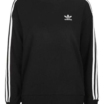 Three Stripe Boxy Sweater by Adidas Originals - Topshop