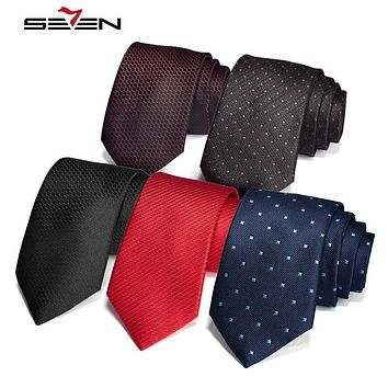 Neck Tie For Men Silk Necktie Set Striped Polka Dot Design Slim Classic Male Party Wedding Accessories