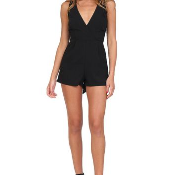 Black T-Back Romper at Blush Boutique Miami - ShopBlush.com : Blush Boutique Miami – ShopBlush.com