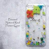 XAZ Daisy Natural Pressed Real Flower Bling Clear Resin Hard Skin Case Cover For iPhone 4 4s 5 5c 5s 6 plus iPod touch 5 5th Gen Sony Xperia Z Z1 Z2