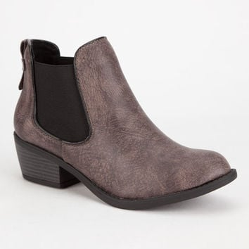 Soda Chelsea Womens Booties Dark Brown  In Sizes