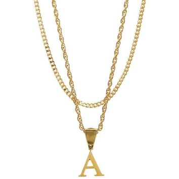 Mister Letter A-F Necklace - Gold
