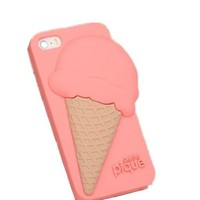 Ice Cream Pattern Phone Case For iPhone 5/5S,4,4S Color Pink