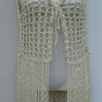 Shop Bohemian Vest Crochet on Wanelo