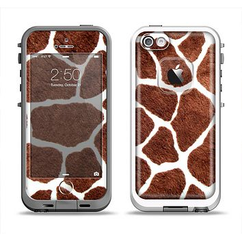 The Real Giraffe Animal Print Apple iPhone 5-5s LifeProof Fre Case Skin Set