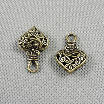 1x Making Jewellery Supply Pendant Retro Fermoir Jewelry Findings Charms Schmuckteile Charme 4-A2092 Hollow Heart