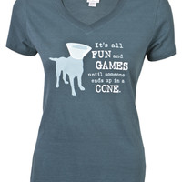 """""""It's All Fun and Games"""" - Dog is Good Womens T-Shirt"""