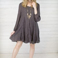 Scoop Back Peasant Lace Dress