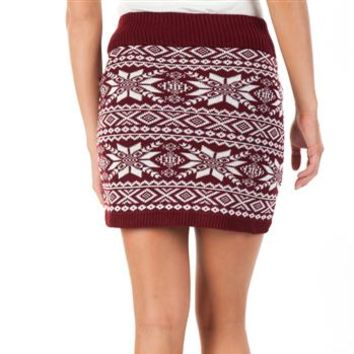 Sweater Project Juniors Nordic Fair Isle Sweater Skirt at Dry Goods