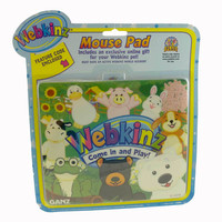 Plush MOUSE PAD Rubber Webkinz Duck Rabbit Frog Cow 2483