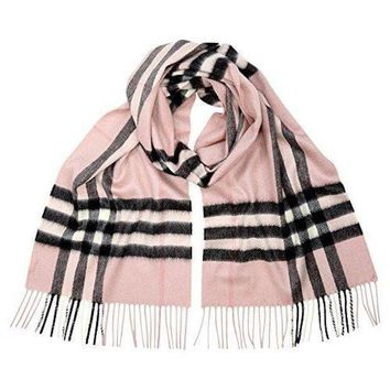 ESBON Burberry Women's Classic Cashmere Scarf in Check Pink
