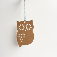 8 Owl gift tags. Kraft tan / brown gift tag set, light blue and white twine, gift wrap, crafting, packaging supplies,bird, nature, minimal