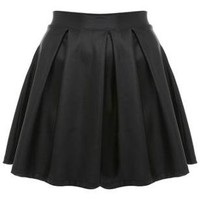 Petites Wet Look Skater Skirt - Skirts - Clothing - Miss Selfridge