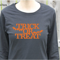 Womens Trick or Treat Halloween Shirt