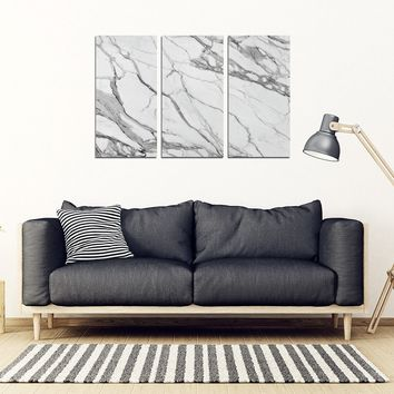 MARBLE 3 Piece Wall-art Framed Canvas Prints