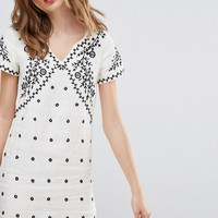 Deby Debo Billy Embroidered Shift Dress at asos.com