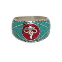 Eyes of compassion turquoise yoga ring