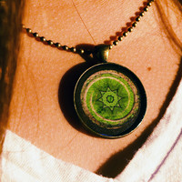 Heart Chakra Necklace - Green Anahata Pendant - Open Your Heart Center to Give & Receive Love