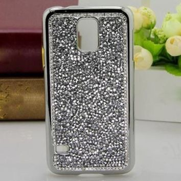 Luxury Bling Glitter Diamonds Crystal Hard Case Cover For Samsung Galaxy S5 I9600 (sliver)