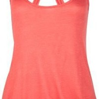 FULL TILT Knot Back Hi Low Womens Tank