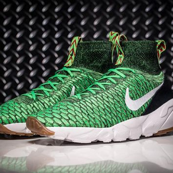 Nike Air Footscape Magista Flyknit Mens Lifestyle New Green / Black Sneakers