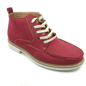 Men's Polar Fox Ankle High Lace Up Casual Boot 506011 Red-396