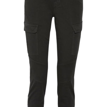 J Brand - Houlihan cropped cotton-blend twill skinny pants
