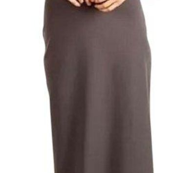 NWT Susana Monaco Gray Twist Knot Halter Maxi Dress, Size Medium