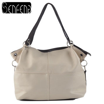 Splice grafting Vintage Shoulder Crossbody Bags