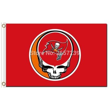 Tampa Bay Buccaneers Stealing Your Face Flag 3x5FT NFL banner 100D 150X90CM Polyester brass grommets custom66,free shipping
