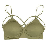 Cross My Heart Bralette - Olive